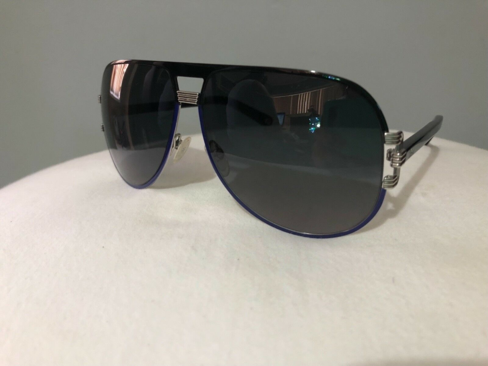 AUTHENTIC Christian Dior Sunglasses graphix 2 Aviator blue black silver teardrop