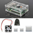 EEEKit for Raspberry Pi 3 Model B + Clear Box Case+Cooling Fan+Aluminum Heatsink