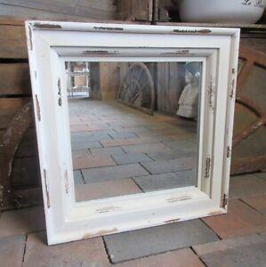 Dettagli su Specchio da Parete Antico Shabby Chic Stile Country Stanza da  Bagno Legno Nuovo