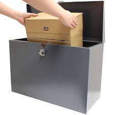 HARDCASTLE LARGE GREY LOCKABLE LETTERBOX/PARCEL BOX HOME DELIVERY SECURE STORAGE