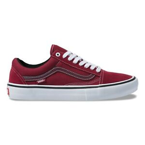 Details about Vans Old Skool Pro | Mens Skate Shoes | Rumba Red True White