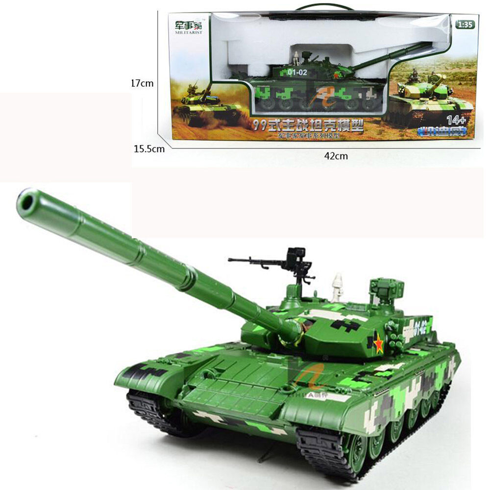 KDW 1 35 Scale Diecast Military Tanks ZTZ-99 Vehicle Armor Model Toys With Box