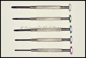 Set-of-5-Philips-Star-Screwdrivers-for-Watchmakers-Jewellers-Camera-Mobile-Phone