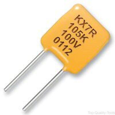 10 X KEMET, C320C104K5R5TA, CAP, CERAMIC, 0.1UF, 50V, X7R