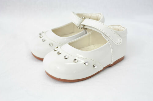 Baby Girls Shoes Formal Shoes Diamante Patent Strap Strap Wedding Occasion