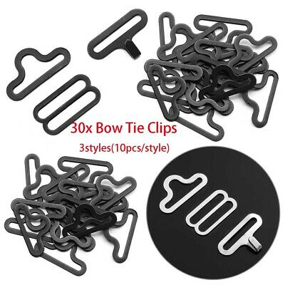 30pcs Useful Bow Tie Hardware Necktie Hook Bow Tie Cravat Clips Fasteners 2019