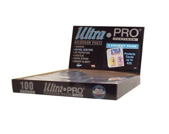 100 leaves Ultra Pro Platinum A4 3 cases 4x6  photo cards 101 x 152 mm 814243