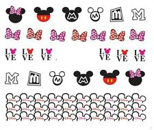 Nail Art Decals Transfers Stickers Mickey & Minnie Mouse (A-381)