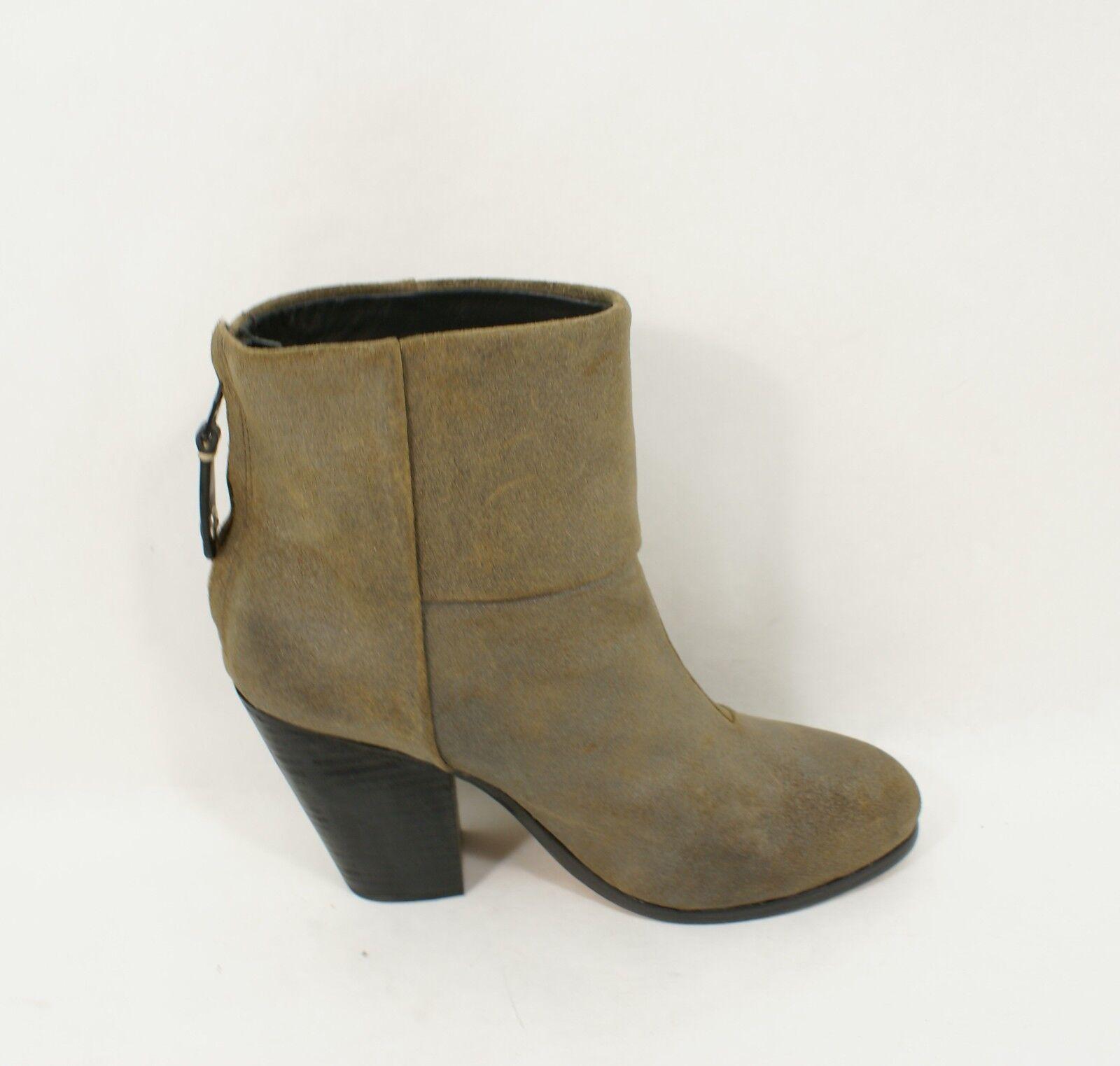 $525 Rag & Bone Newbury Metallic Stone Boot Oil Rubbed Suede Ankle Boot Stone Size 6.5 de189a