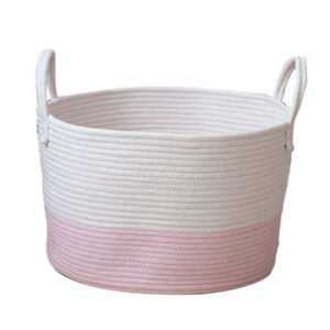 Image Is Loading Cotton Rope Basket Baby Kids Laundry Woven