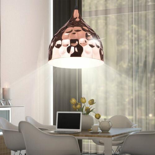 Retro Suspendu Lampe Pendule logement couvertures de marteau frappe Projecteur Rose-Or