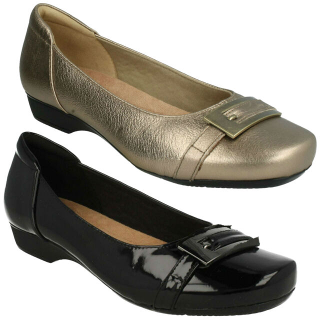 a7e3d9bc68f68 BLANCHE WEST LADIES CLARKS FLAT SLIP ON BALLERINA WIDE CASUAL PUMPS SHOES  SIZE