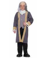 Ben Franklin Colonial Costume Jefferson Adams Patriotic Child Size Xlarge 16-18