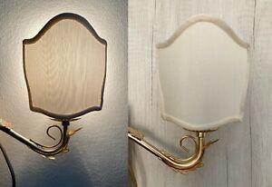 Lampada da parete vintage con paralume lampada al muro colore oro abat-jour