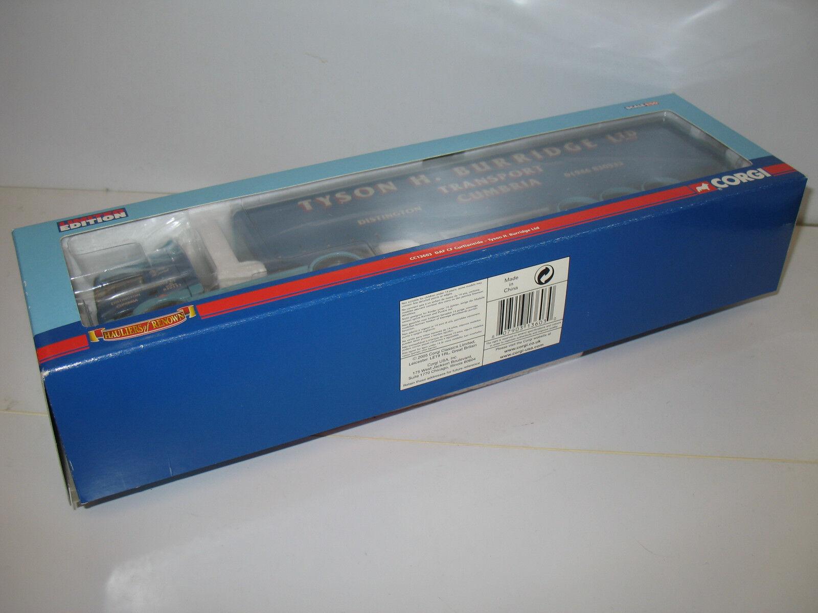 Corgi Escala 1 50 CC13603-DAF CF Curtainside-Tyson H Burridge Ltd