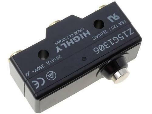 Z15G1306 Microswitch with lever SPDT 15A//250VAC ON-ON 1-position HIGHLY