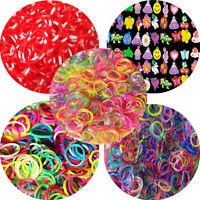 600pcs Colourful Rainbow Loom Bands Rubber Twistz Bandz DIY Bracelet Refill Kit