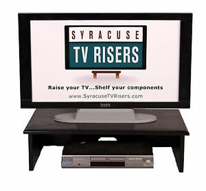 "XX - LARGE BLACK TV RISER - Solid-36""widex<wbr/>18""deepx9""high by Syracuse TV Risers"