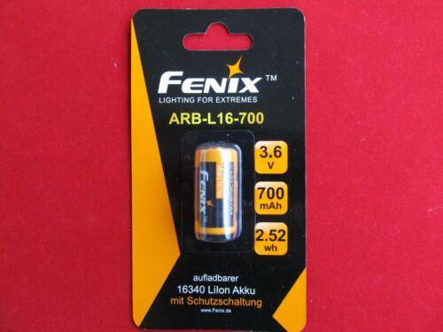 Fenix ARB-L16-700 16340 Li-ion Akku 3,6V 700mAh mit Schutzschaltung