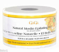 """GIGI *** 0620 Natural Muslin Epilating Roll for all soft waxes 3.25"""" x 40 yards"""