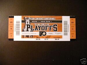 One ticket Philadelphia Flyers 2011 NHL Playoffs ticket stub Vintage Sports Memorabilia