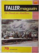Faller  AMS --  Faller Magazin Nr. 78 von 1970 !