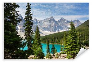 Postereck-3281-Poster-amp-Leinwand-Kanada-Natur-Landschaft-See-Berge-Wald