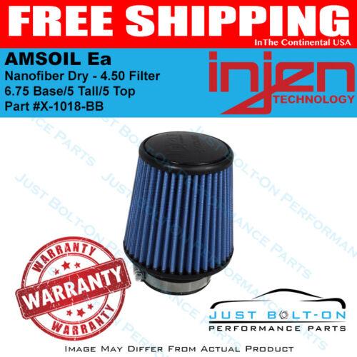 Injen AMSOIL Ea Nanofiber Dry 4.50 Filter 6.75 Base//5 Tall//5 Top X-1018-BB