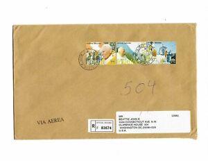 Vatican-2005-registered-cover-Pope-John-Paul-II-travels-Lourdes-Loreto-Bern