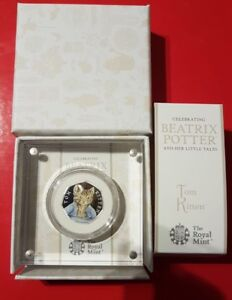 Royal-Mint-Beatrix-Potter-Tom-Kitten-50p-2017-Silver-Proof-Coin