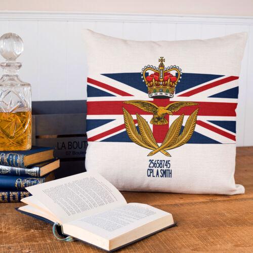 RAF wo Cap Badge Housse de coussin personnalisé Militaire Britannique Cadeau MC26