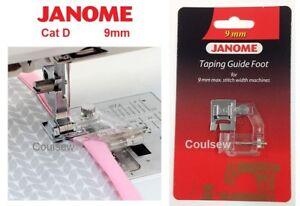 Genuine Janome Machine à Coudre Enregistrement Guide Bias Binder Pied Chat D 9 Mm 202310008-afficher Le Titre D'origine