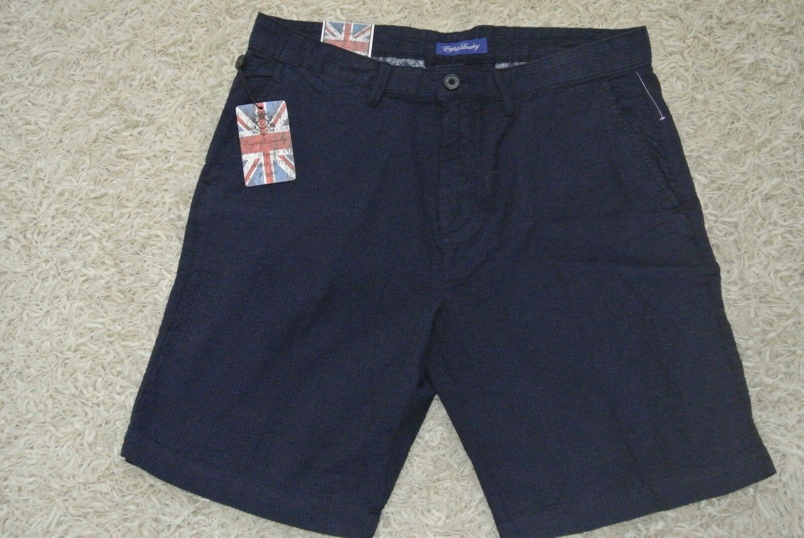 ENGLISH LAUNDRY Shorts 34 NWT CLASSIC FIT 9  Inseam-STRIPED NIGHT SKY blueES