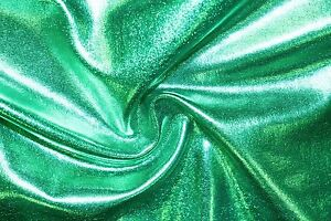 Silver Shiny Pleather Faux Leather Stretch Polyester Lycra Spandex Fabric BTY
