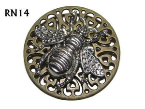 7b542ca31c51b steampunk brooch badge pin silver honey bumble bee nectar Manchester ...