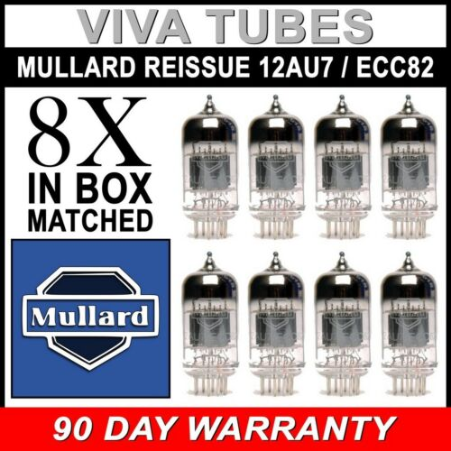 Brand New Vacuum Tubes 8 Mullard Reissue 12AU7 ECC82 Gain Matched Octet