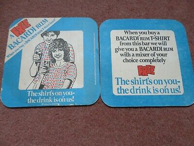 50 Bacardi Beer Mats//Bar Mats//Coasters New