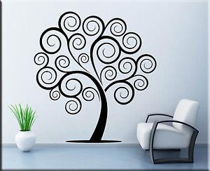 Adesivi murali albero stilizzato decorazioni parete wall for Stencil adesivi
