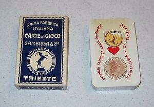 Cartes à jouer piémontaises 90 Cambissa & C Trieste 1959 cartes à jouer Écosse