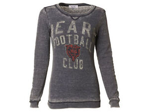 ca203274 Details about NWT NFL Chicago Bears Vintage Womens Redzone Burnout Long  Sleeve Thermal Shirt