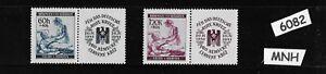 #6082    MNH stamp set / Red Cross Nurse & Soldier WWII Third Reich Germany 1941