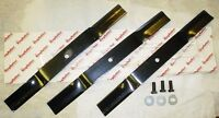 King Kutter / County Line 4' Finish Mower Blade Set W/ Bolts - 3 Blades 502316