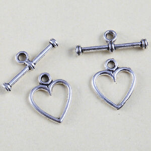 100-Sets-Tibetan-Silver-Nice-Heart-Toggle-Clasps-Jewelry-Findings-Charms-AP1518