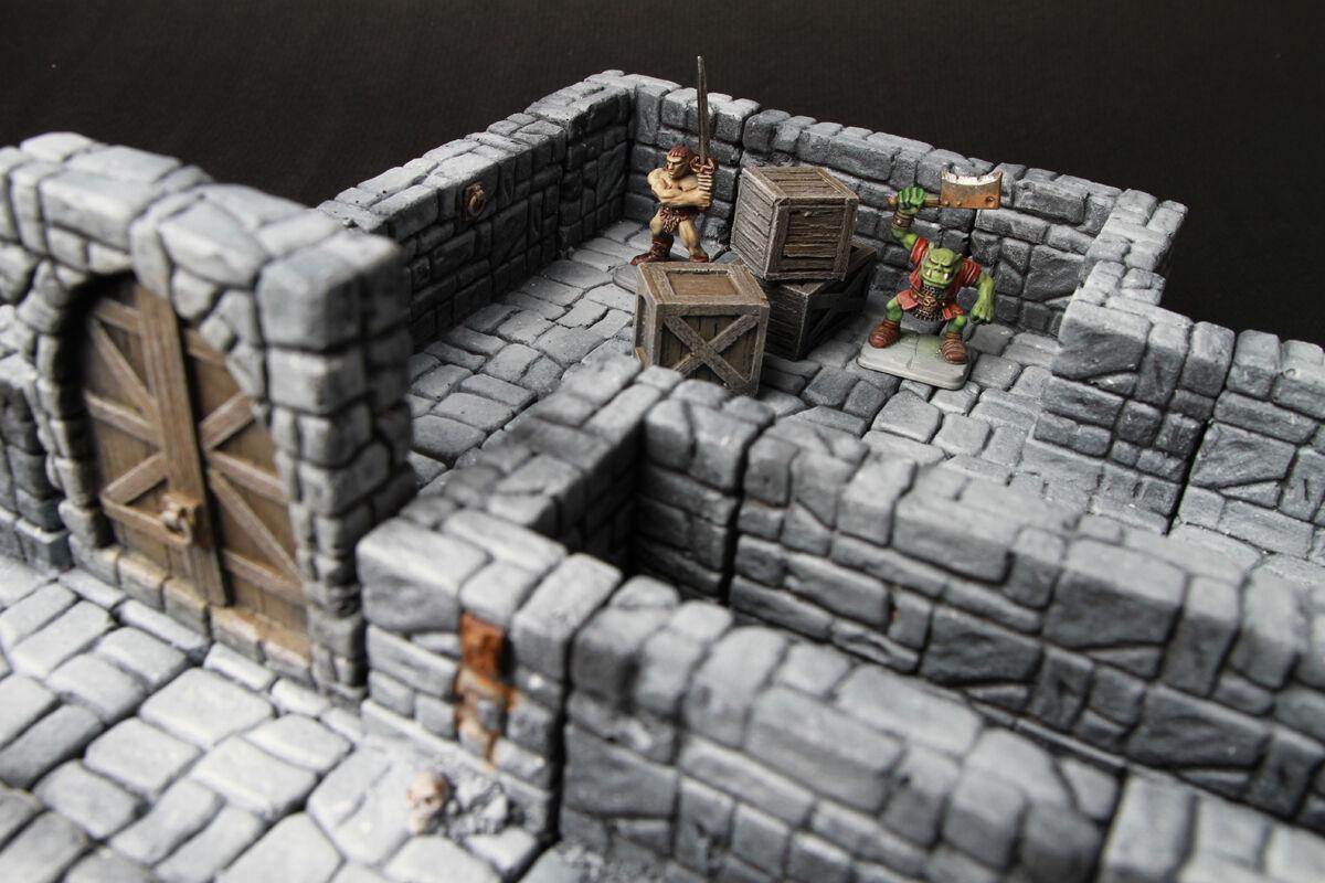 Modular dungeons terrain 21 pieces for dongeons dragon, d&d, warhammer,40k, rpg