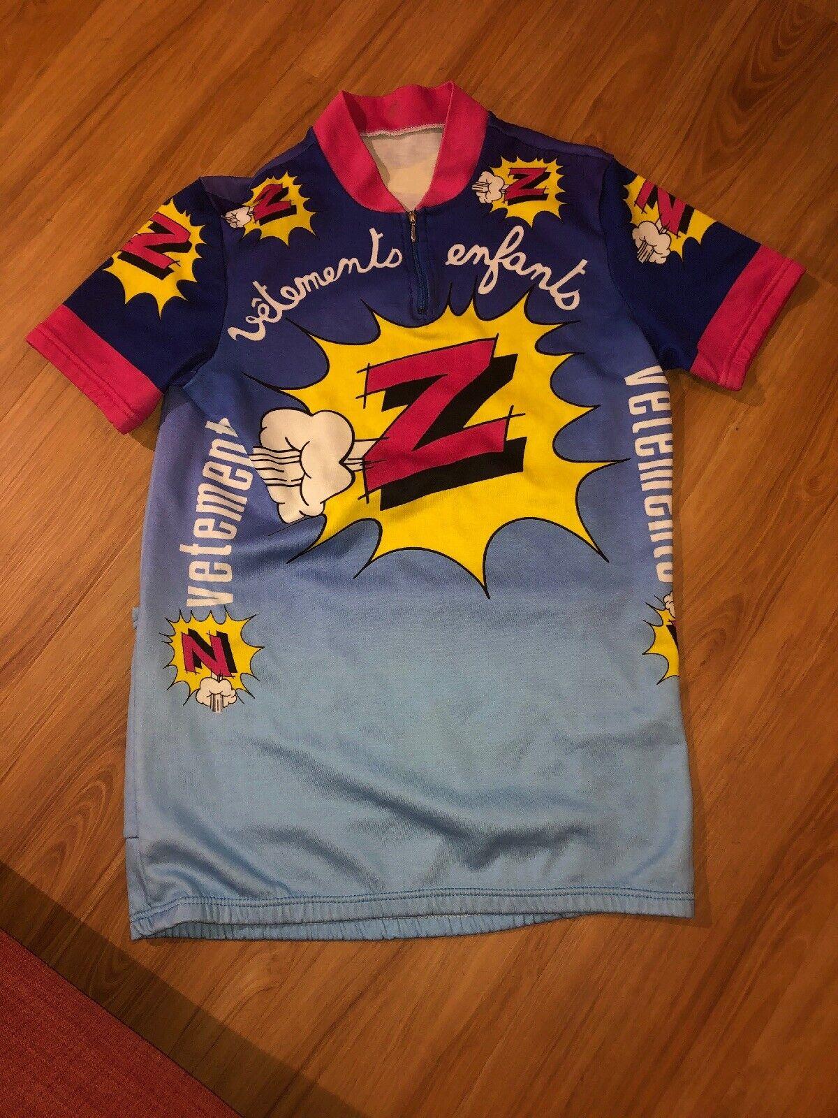 Vintage Les Enfants Cycling Jersey Greg Lemond Mens Medium