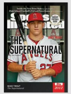 MIKE TROUT TOPPS X 2021 SPORTS ILLUSTRATED THE SUPERNATURAL 2012 ROOKIE CARD #1