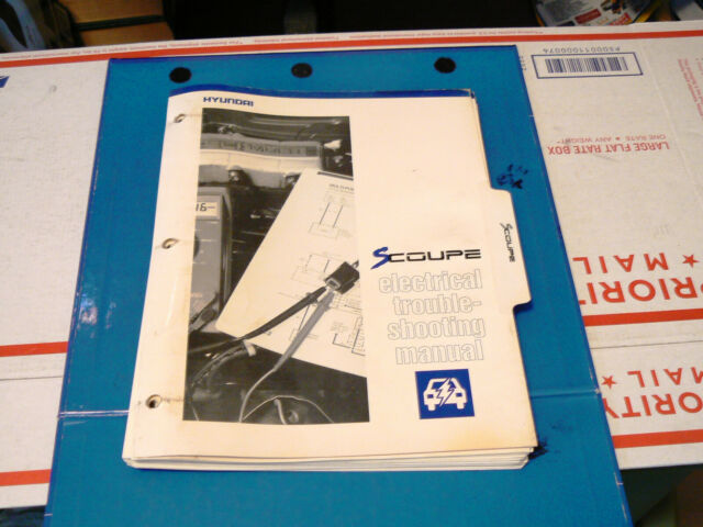 1991 Hyundai Scoupe Electrical  Wiring Diagrams Manual