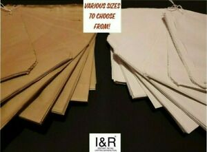 Brown / White Kraft Sulphite Paper Bags Strung Groceries Sweets Sandwich Party