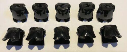 10 X Black Lego Minifigures Armor Breastplate Armour Castle Knight Blank Lot A36