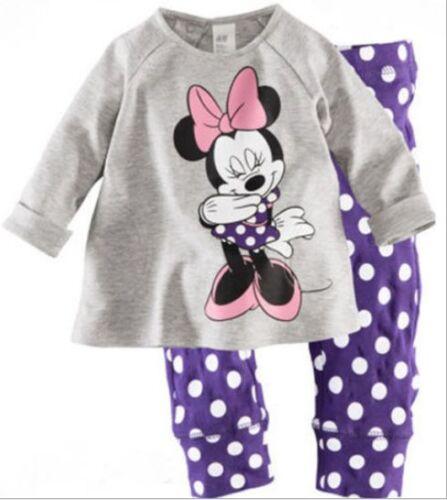 Pants Pajamas Set Sleepwear Outfit Clothing 2pcs Kids Baby Girl cartoon Tops